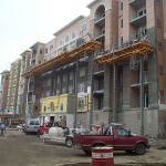 Bennu Scaffolding Platform Series 2 - G&J Plastering - Vernon Hills, Illinois jobsite
