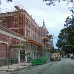 Bennu Scaffolding Platform Series 3 - Iwanski Masonry - Seward School jobsite